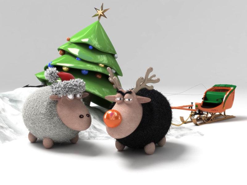 Funny Christmas Portrai